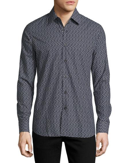 Arrow-Print Slim-Fit Shirt