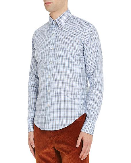 Check-Print Button-Down Shirt