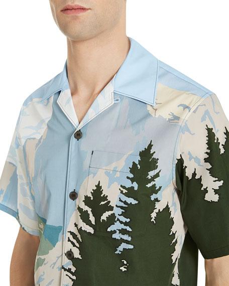 Forest-Print Sport Shirt