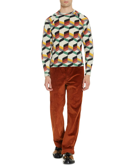 Shetland Geo-Pattern Sweater
