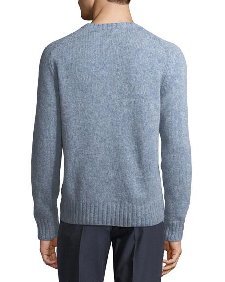 Shetland Crewneck Wool Sweater