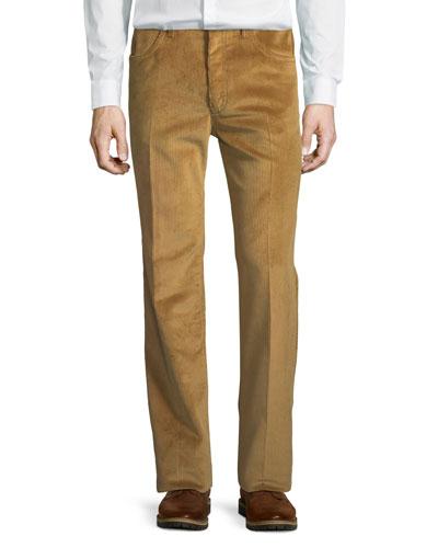Creased Corduroy Pants