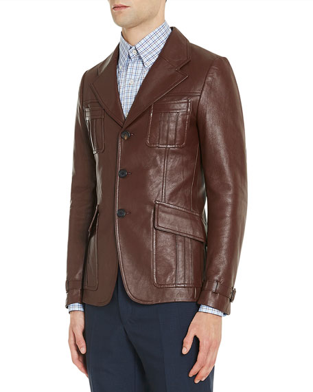 Leather Suit Jacket