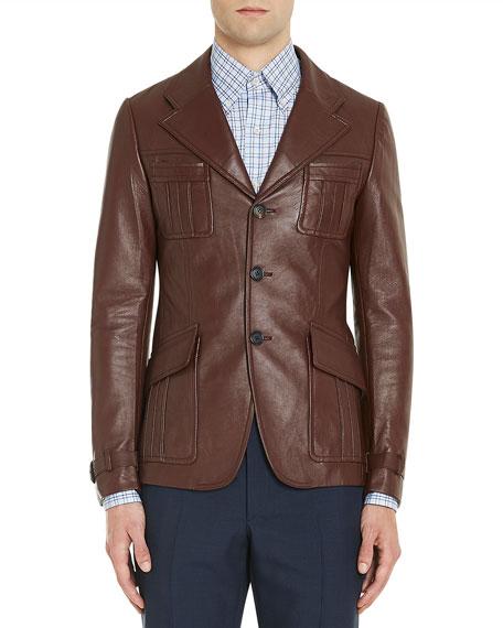 Leather Suit Jacket