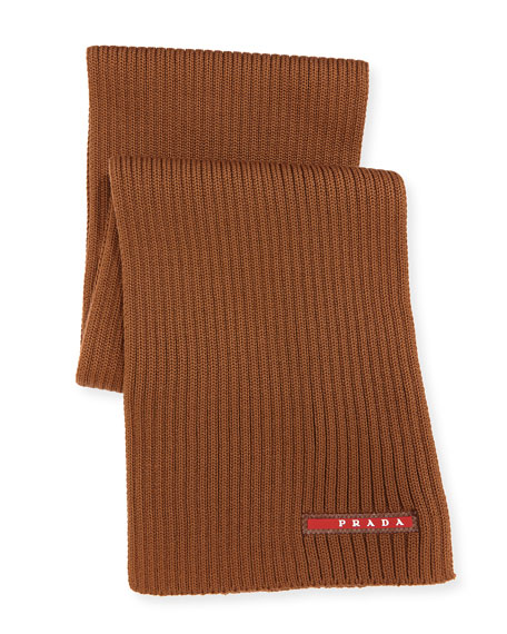 Ribbed Wool Scarf