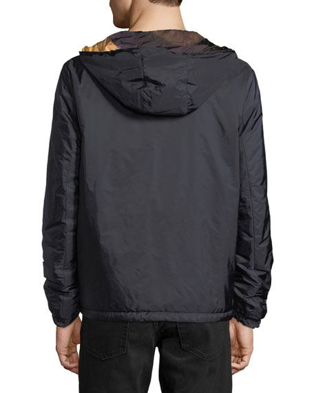 Reversible Zip-Front Hooded Jacket