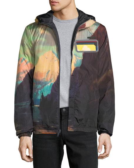 Reversible Zip-Front Hooded Jacket