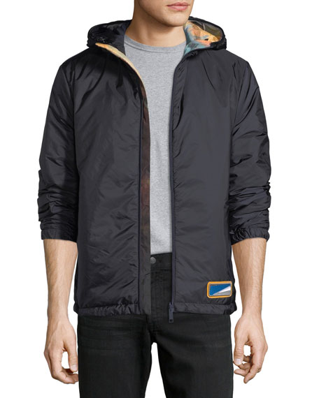 Prada Reversible Zip-Front Hooded Jacket