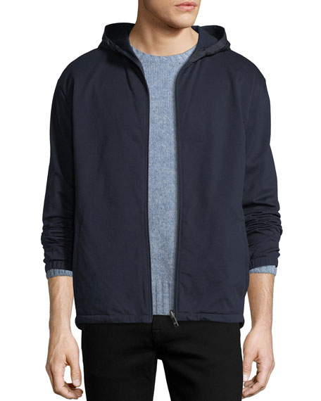 Reversible Zip-Front Hoodie Jacket