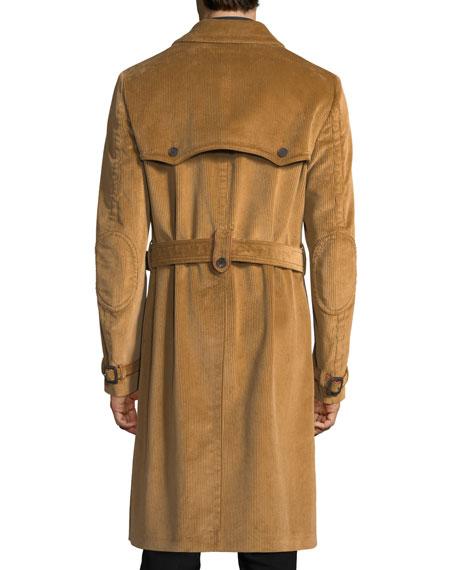 Belted Corduroy Trenchcoat