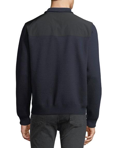 Zip-Front Wool-Blend Cardigan