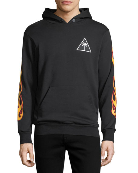 Printed Palms Hoodie Sweatshirt