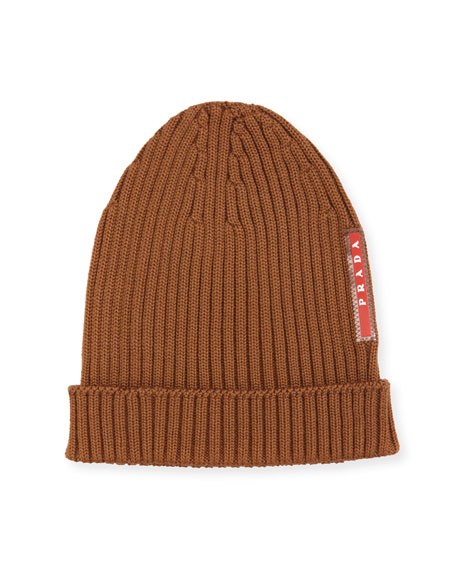 Ribbed Knit Wool Beanie