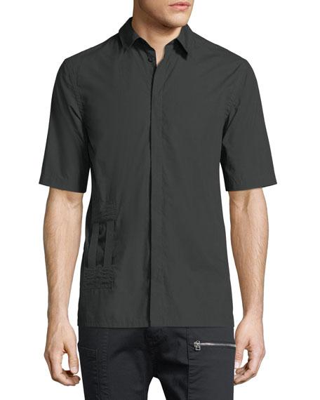 Helmut Lang Bar-Tab Short-Sleeve Shirt