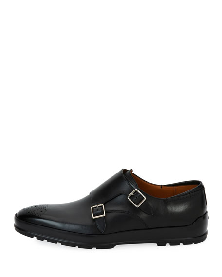 Redison Leather Double-Monk Shoe