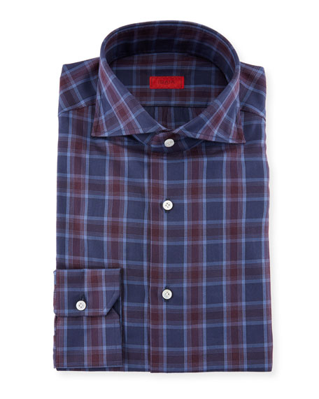 Plaid Cotton Dress Shirt