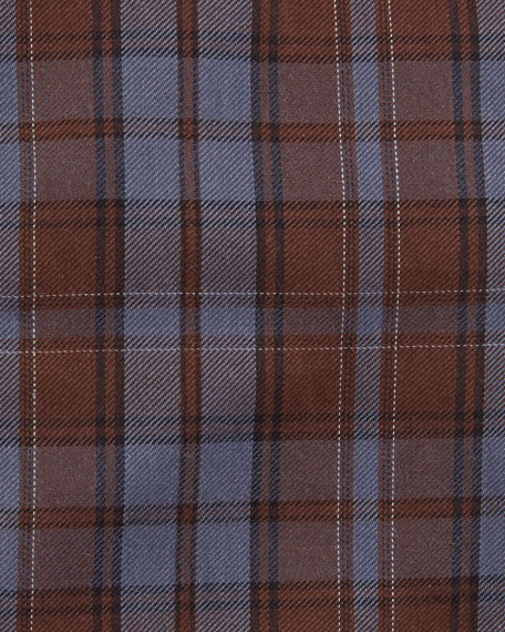 Large Check-Print Cotton Dress Shirt