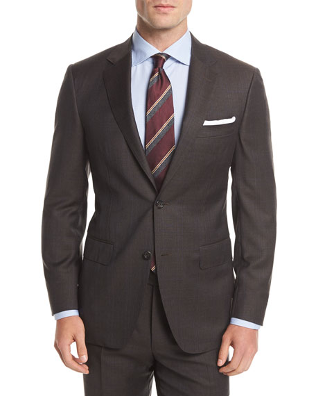 Wool Plaid Two-Button Suit