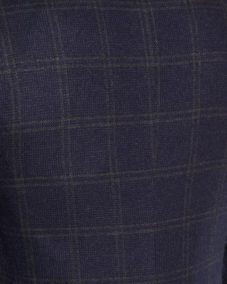 Double-Windowpane Cashmere Sport Coat