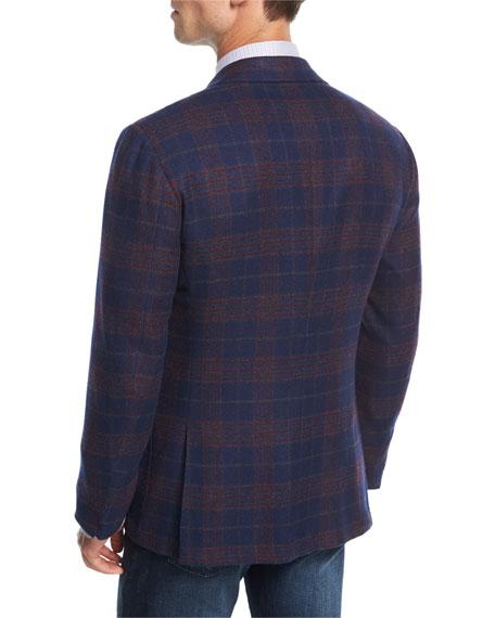 Plaid Cashmere Two-Button Sport Coat