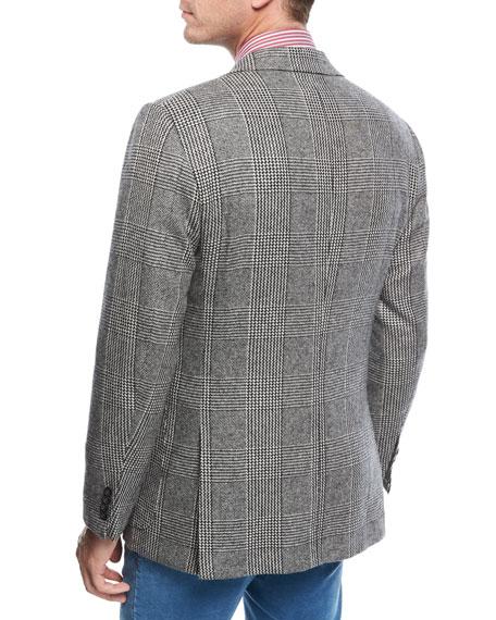 Large-Plaid Cashmere Sport Coat