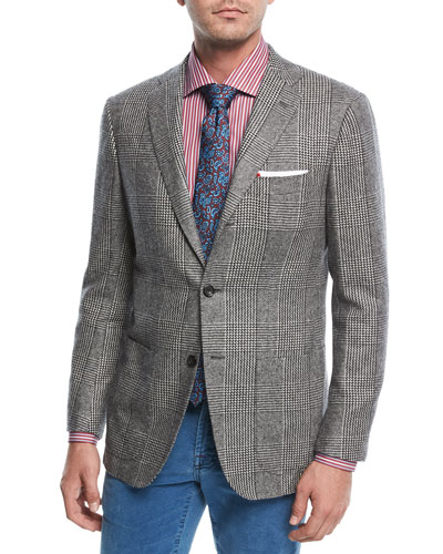 Large-Plaid Cashmere Sport Coat