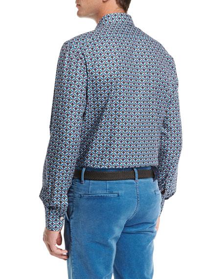 Medallion-Print Cotton Shirt