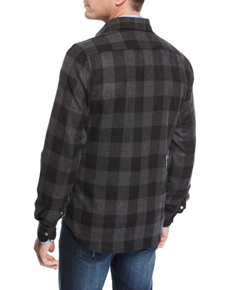 Large Check Wool-Cashmere Overshirt