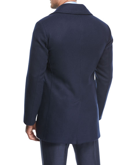 Wool-Blend Double-Breasted Pea Coat