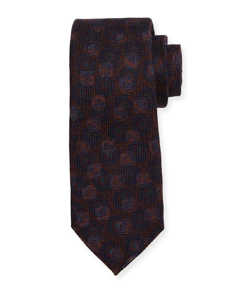Kiton Grenadine Woven Silk Tie, Merlot