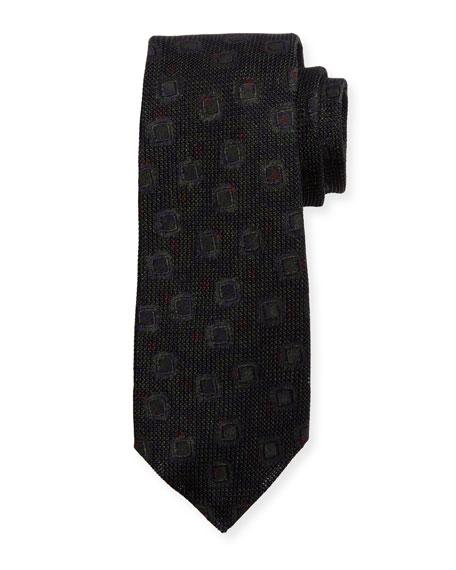 Grenadine Woven Silk Tie, Brown