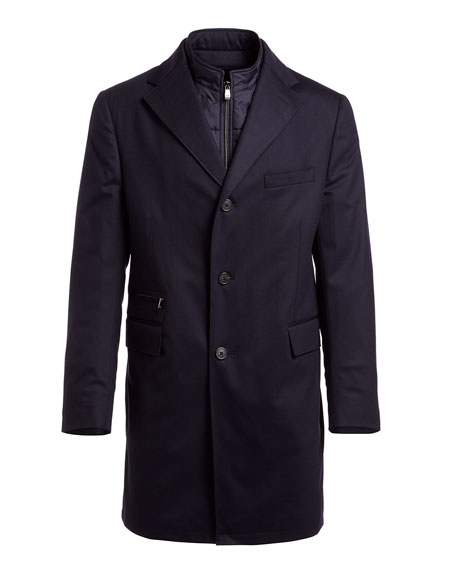 Storm System Wool-Blend Topcoat