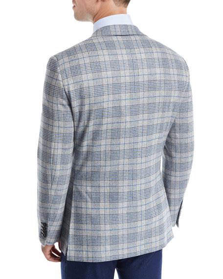 Plaid Escorial Wool Sport Coat
