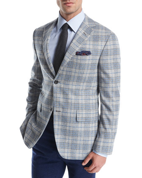 Plaid Escorial Wool Sport Coat