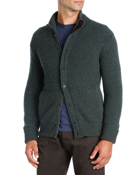Cashmere Luxe Jacket with Suede Trim