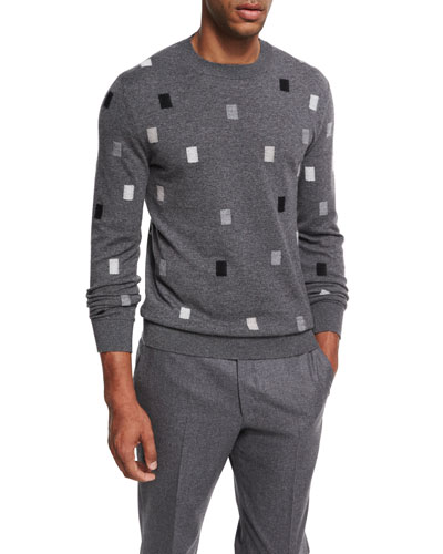 Cashmere Rectangle Crewneck Sweater
