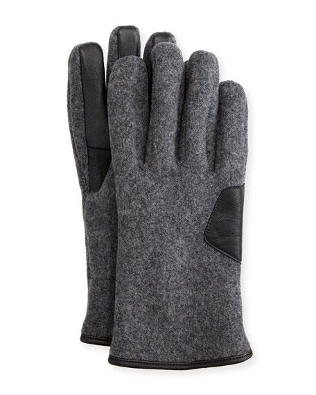 Men's Fuzzy Knit Smart Gloves