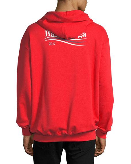 503f6b029f Balenciaga Campaign Logo Hoodie Sweatshirt, Red