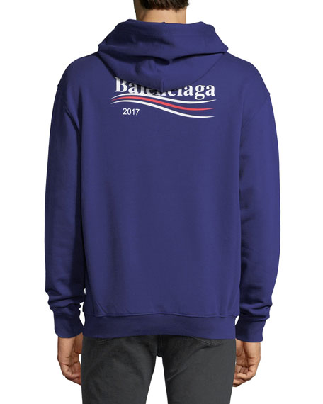 c657261cec Balenciaga Campaign Logo Hoodie Sweatshirt. Campaign Logo Hoodie Sweatshirt.  Campaign Logo Hoodie Sweatshirt