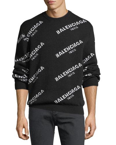 Crewneck Logo Jacquard Sweater