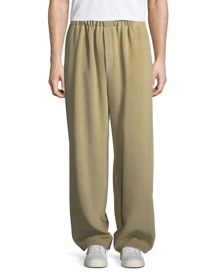 Fleece Wide-Leg Pants