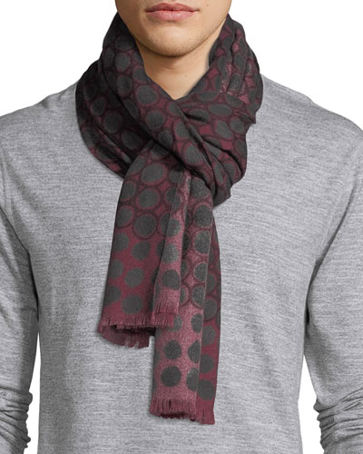 Circle Medallion Cashmere Scarf