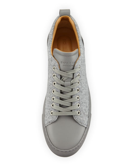 Men's Lyndon Wool & Leather Low-Top Sneakers