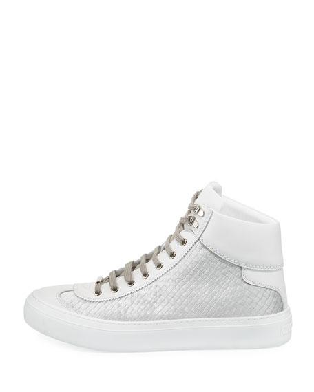 Men's Velvet & Leather High-Top Sneaker