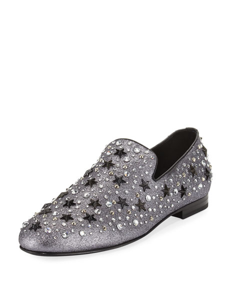 Jimmy Choo Men's Star & Crystal Studded Glitter