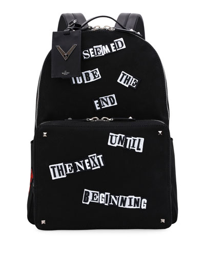 Punk Patch Canvas Backpack