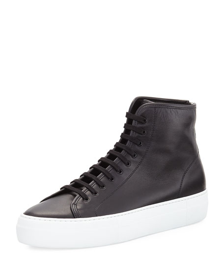 White tournament Leather hi top sneakers Common Projects Ji2jlHDknK