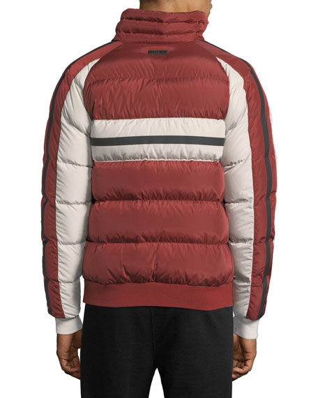 Quilted Zip-Front Down Jacket