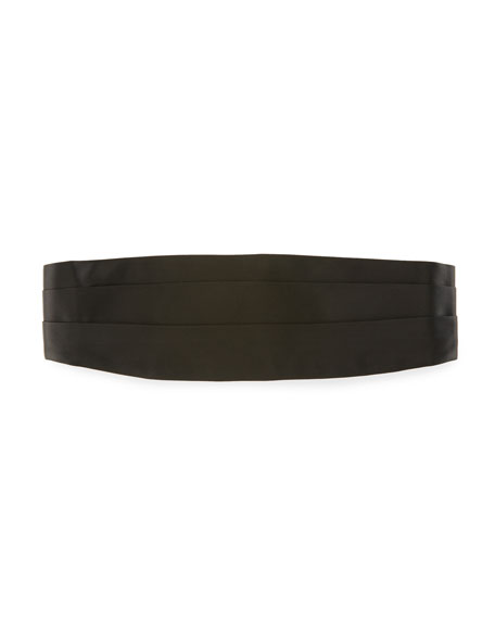 TOM FORD Pleated Silk Satin Cummerbund, Black