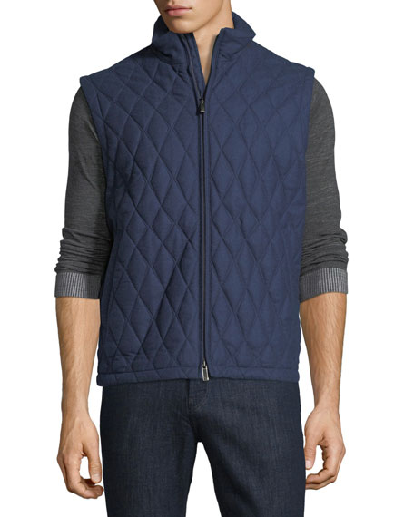 Quilted Wool-Silk-Cashmere Vest